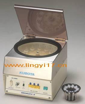 日本Kubota久保田KA-2200免疫血液学用离心机,操作极其简单,一键完成分离和清洗工作