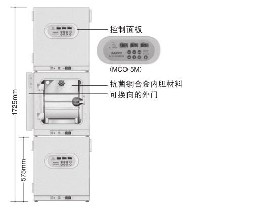 日本松下(原三洋)二氧化碳培养箱(多气体) MCO-5M,容积:49L
